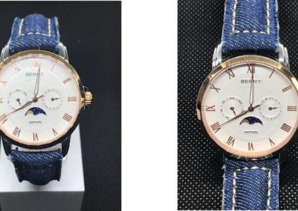 Correas de reloj hechas en tela de jean por Diloy
