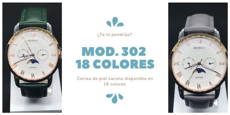 Correas de reloj disponibles en 18 colores