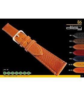 Correa de piel para reloj imitación Búfalo Diloy 86