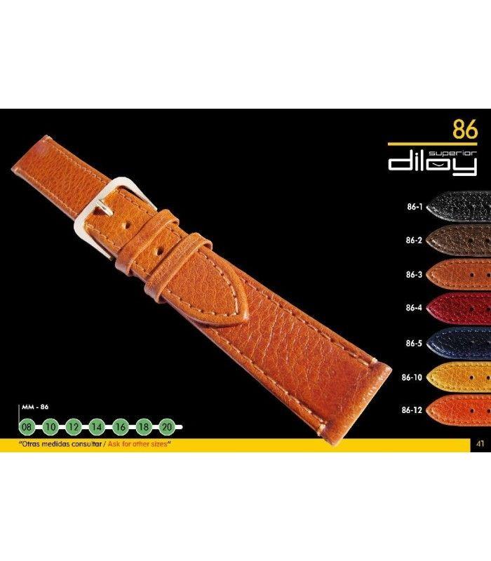 Bracelet extra long pour montre en cuir, Diloy 86EL