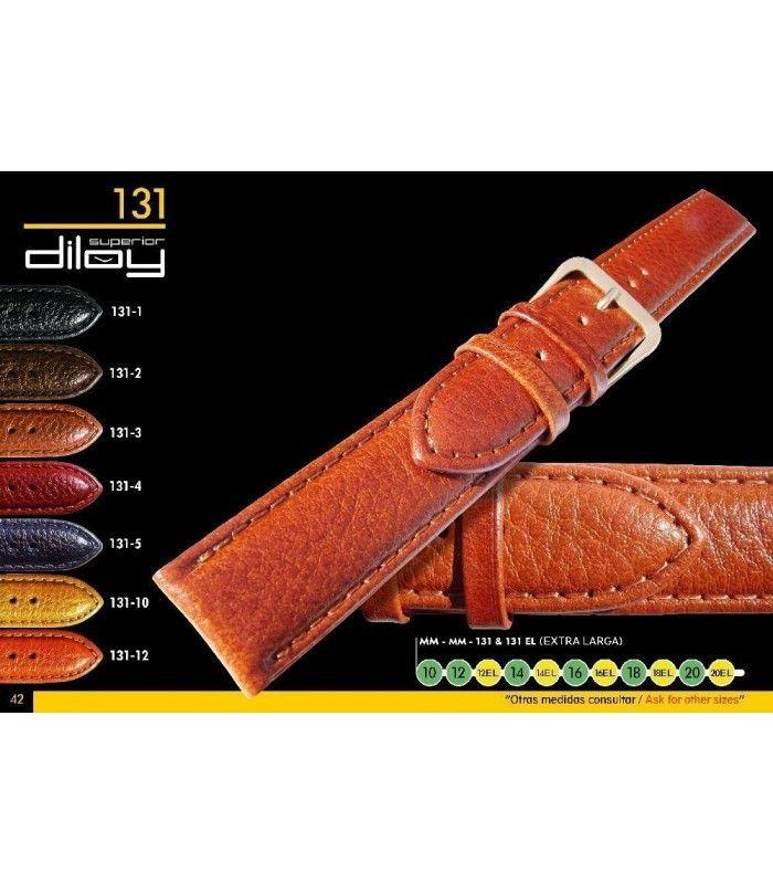 Correa de piel para reloj imitación Búfalo Diloy 131