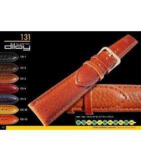 Correa de piel para reloj imitación cocodrilo Diloy 131