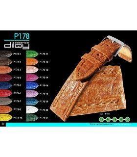 Correa de piel para reloj Diloy P178