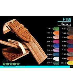 Correa de piel para reloj Diloy P188