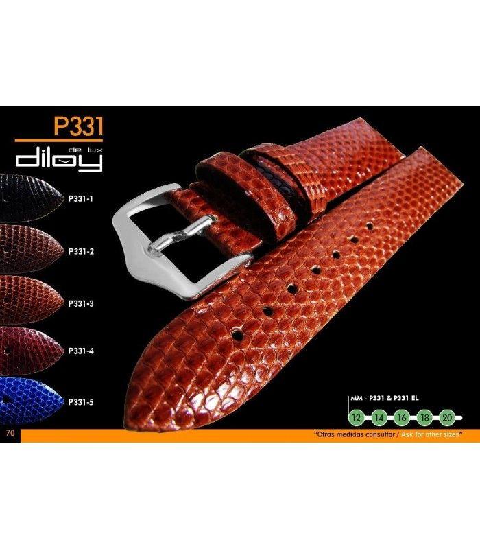 Cinturino orologio in pelle Ref P331