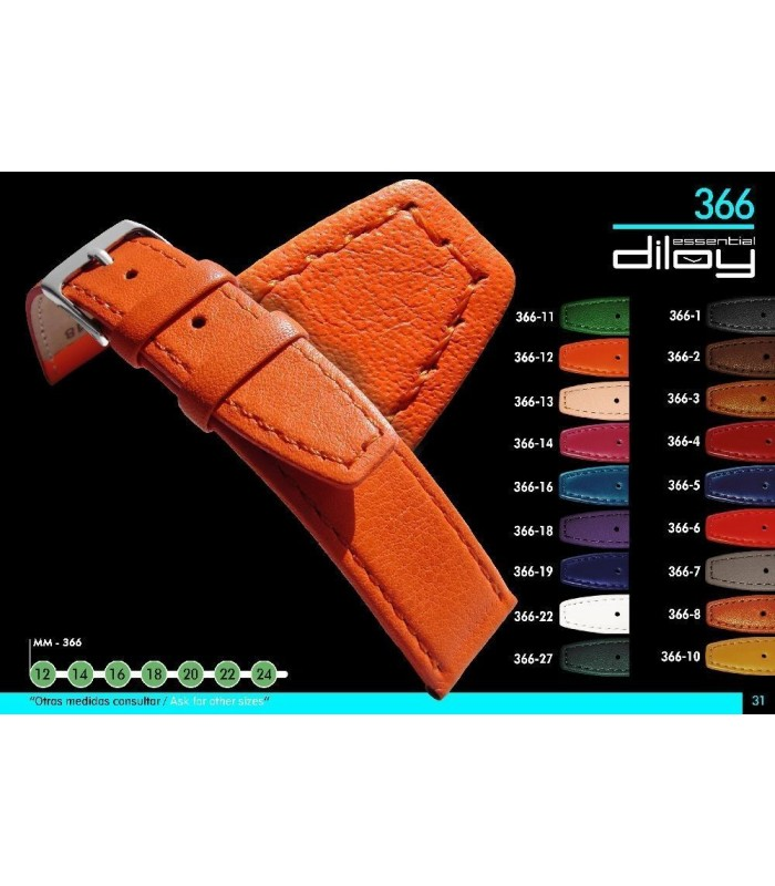 Leather watch straps Diloy 366