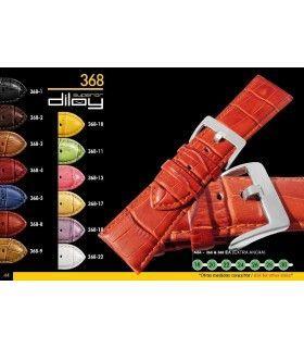 Correa de piel imitación cocodrilo para reloj Diloy368
