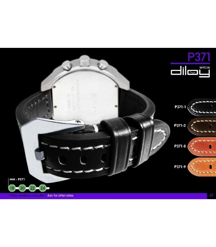 Leather watch straps Diloy 371