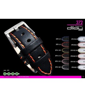 Leather watch straps Diloy 372