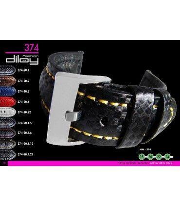 Correas de Reloj estilo Fibra de Carbon. Ref 374