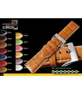 Correa de piel imitación cocodrilo para reloj Diloy 378