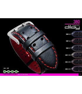 Leather watch straps Diloy 380