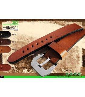 Correa de piel vintage para reloj Diloy 383