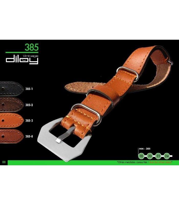 Bracelet pour montre en cuir, Diloy 385
