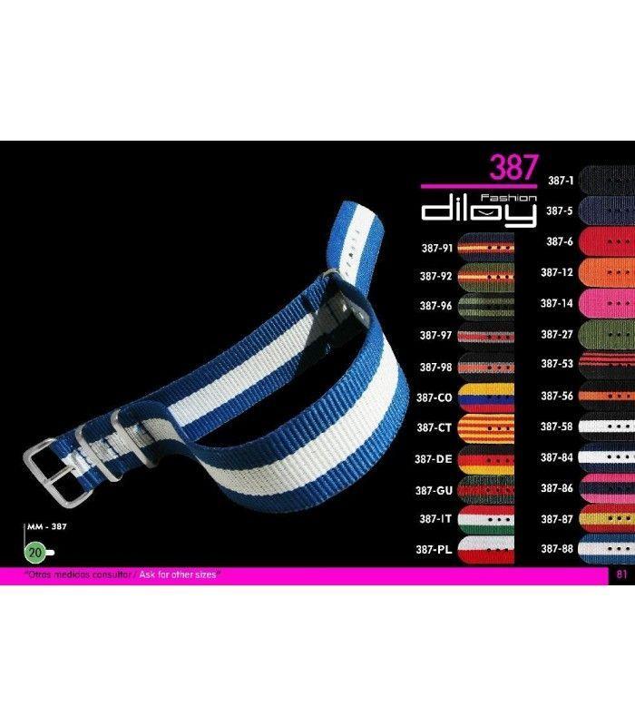 bracelets NATO pour montres, Diloy 387