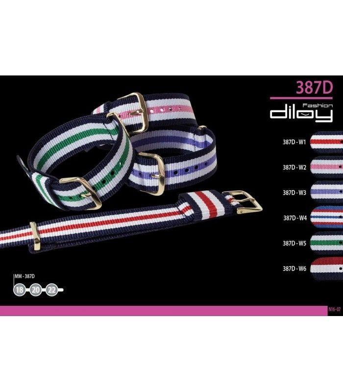 bracelets NATO pour montres, Diloy 387D