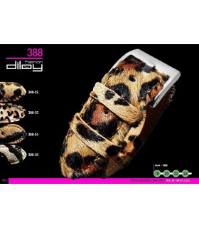 Animal Print watch strap, Diloy 388