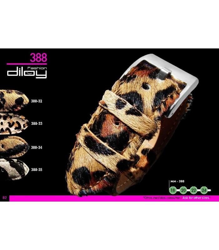 Animal Print watch strap, Diloy 388