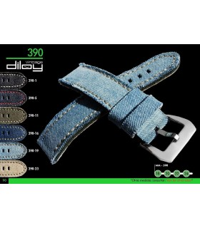 Denim or jean watch strap, Diloy 389