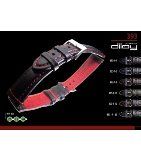 Premium leather watch strap diloy 393