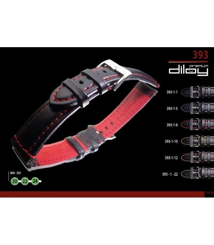 Correa de piel para reloj, Diloy 393