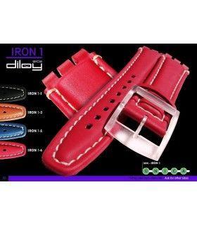 Bracelets de montre en cuir Ref IRON1