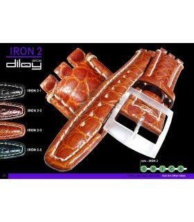 Bracelet pour montre en cuir, Diloy IRON2