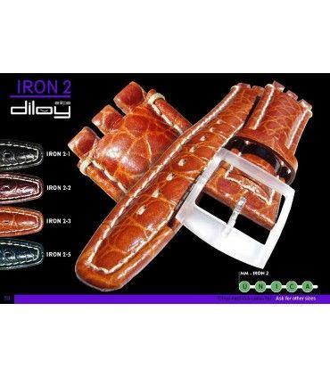 Cinturino orologio in pelle Ref IRON2