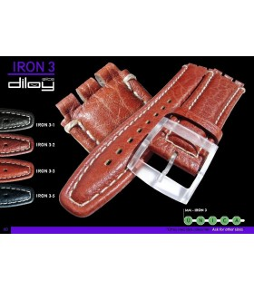 Replacement watch straps compatible with Swatch, Diloy IRON3