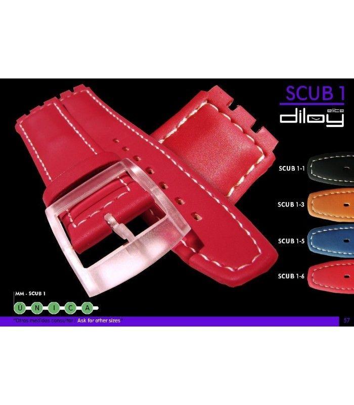 Bracelet pour montre en cuir, Diloy SCUB1