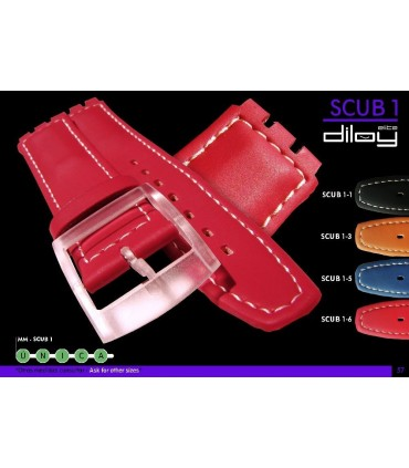 Leather watch straps Ref SCUB1