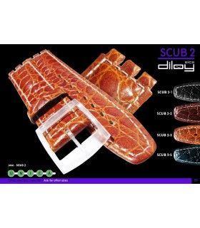 Bracelet pour montre en cuir, Diloy SCUB2