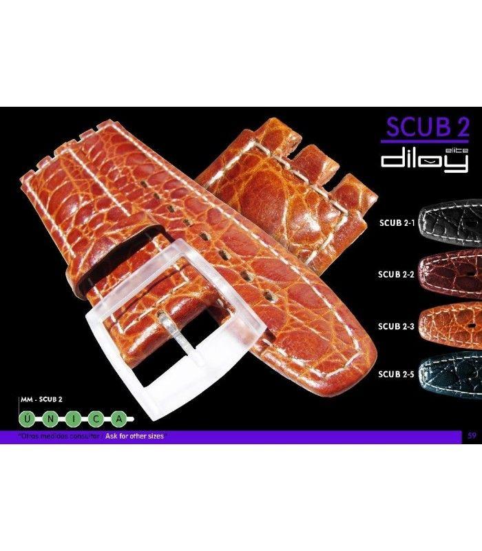 Cinturino orologio in pelle Ref SCUB2