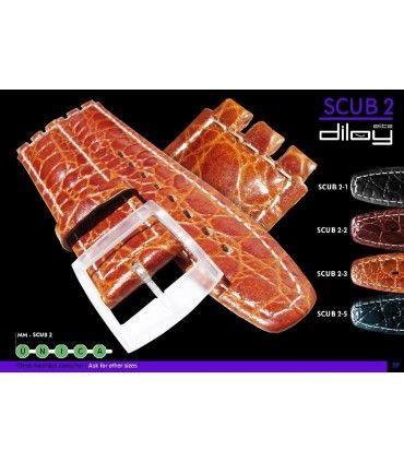 Bracelets de montre en cuir Ref SCUB2