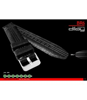 Silicone watch strap, Diloy BR06