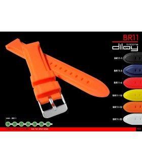 Bracelets pour montres en silicone, Diloy BR11