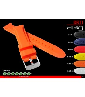 Silicone watch strap, Diloy BR11