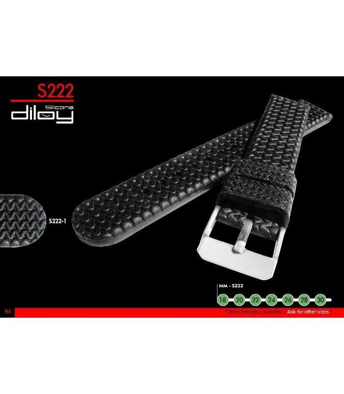 Cinturino orologio in silicone Ref S222