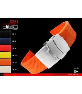 Bracelets pour montres en silicone, Diloy S251