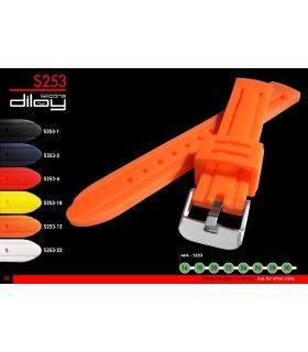 Cinturini orologio silicone Ref S253