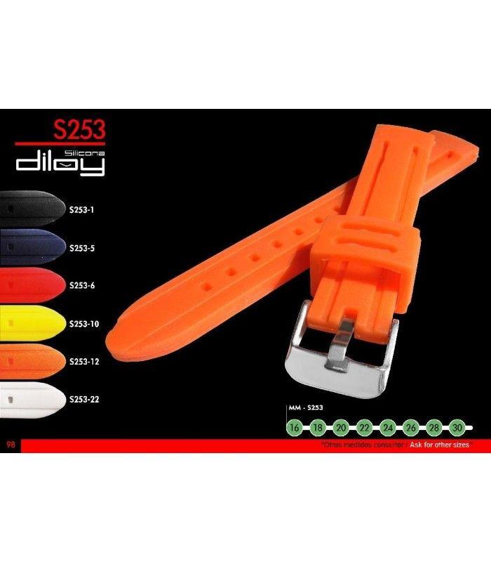 Bracelets pour montres en silicone, Diloy S253