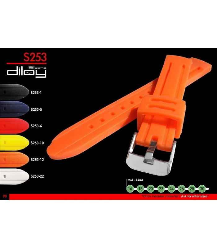 Silicone watch strap, Diloy S253