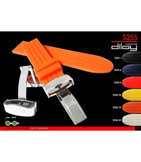 Silicone watch strap, Diloy S255