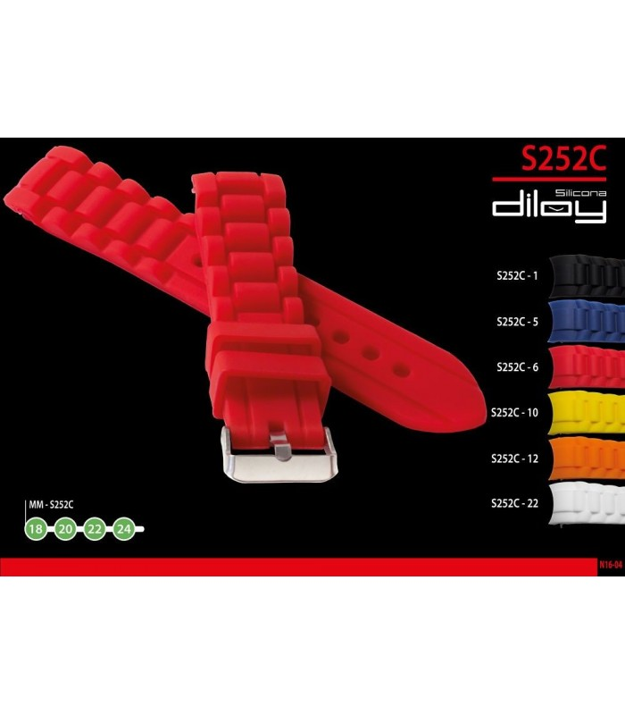 Silicone watch strap, Diloy S252C
