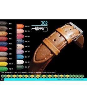 Bracelet extra long pour montre en cuir, Diloy 302EL