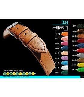 Correa extralarga de piel para reloj, Diloy 304EL