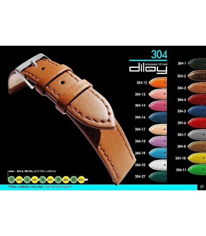 Bracelet extra long pour montre en cuir, Diloy 304EL