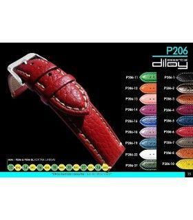 Bracelet extra long pour montre en cuir, Diloy P206EL