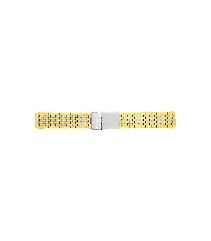 Armys metálico bicolor para reloj, Diloy 1058