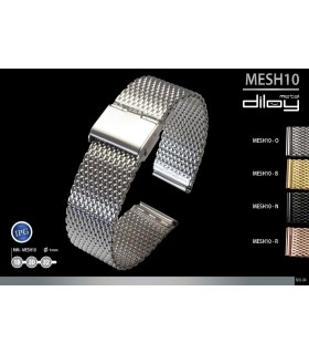 Metal watch band, Diloy MESH10